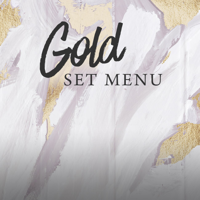 Gold set menu at Ashton