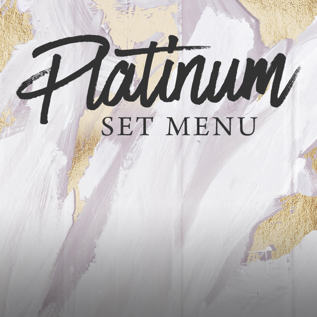 Platinum set menu at Ashton