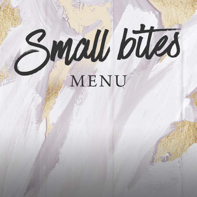 Small Bites menu at Ashton